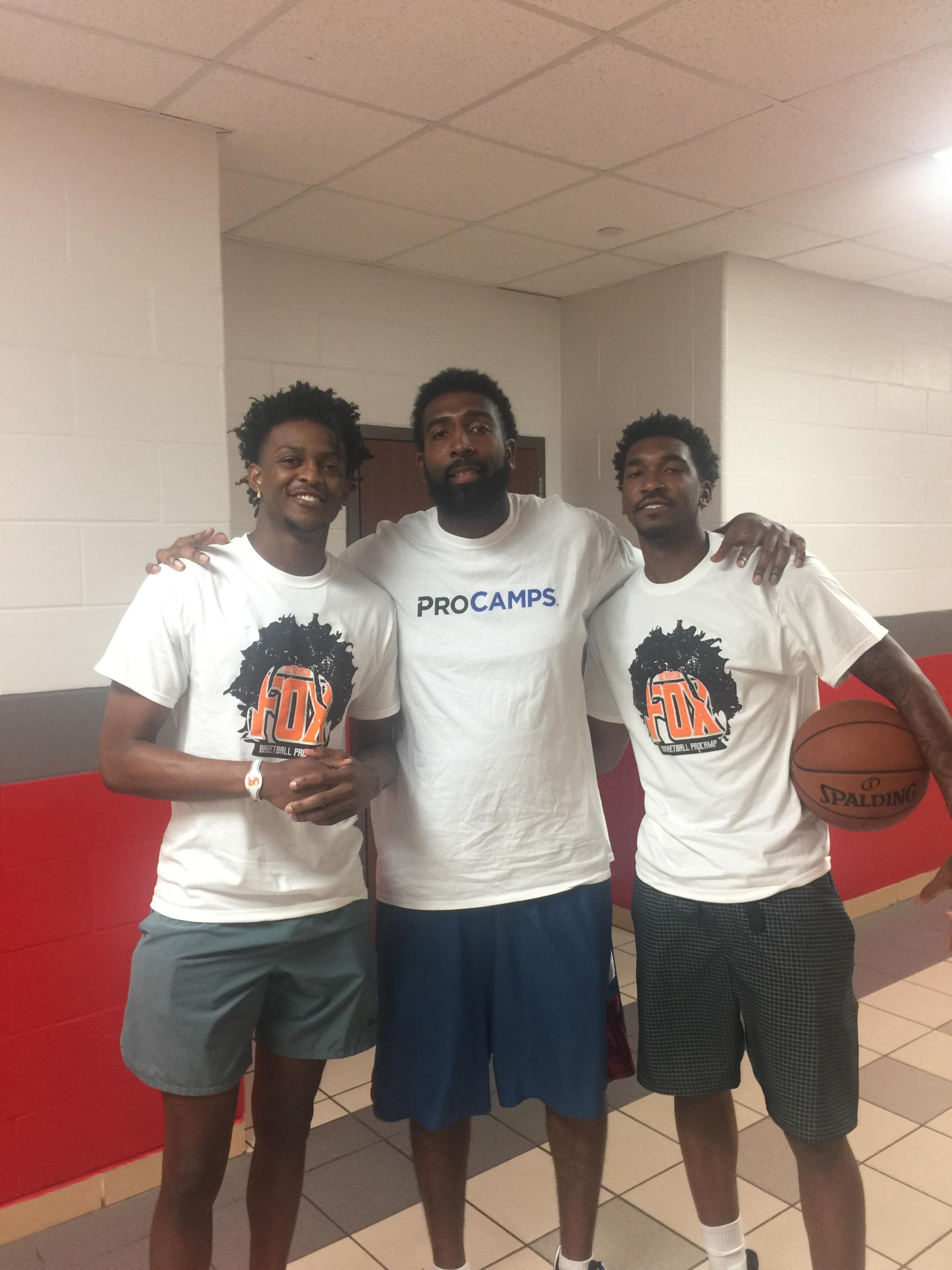 Derrick with NBA Guards - De'Aaron Fox & Malik Monk