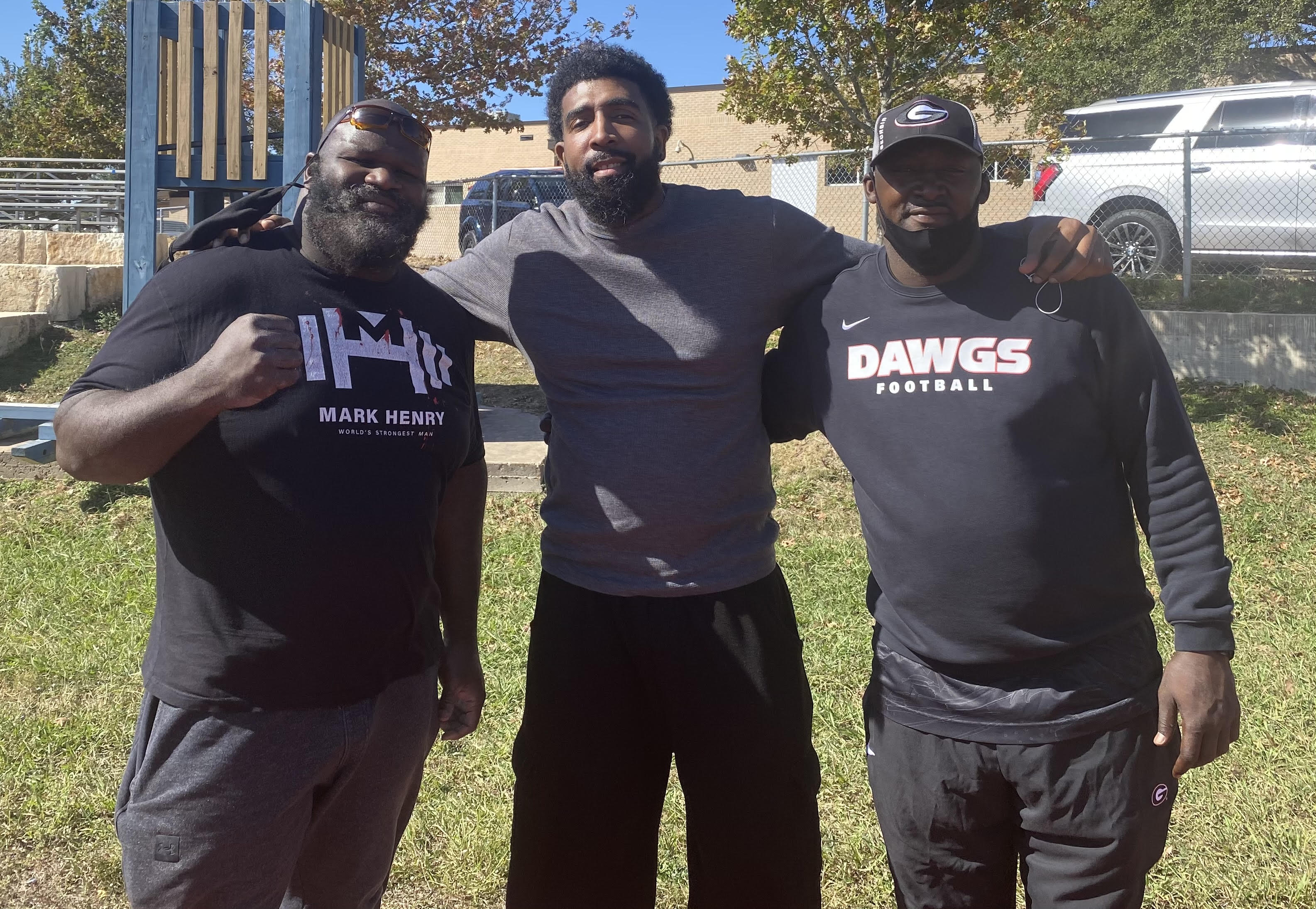 Derrick with Mark Henry and Quincy L. Carter